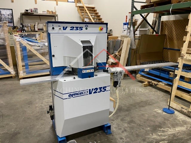 Omga Model V 235 Pneumatic V cutting Miter Saw